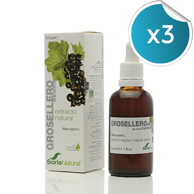 Extracto Grosellero Negro - Soria Natural - 50 ml. (Pack 3 unidades)unidades)