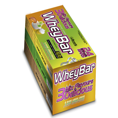 3 Mix Whey Bar (Lemon Cream, Yogurt Apple, Peanut Butter) - Beverly - 24 barritas