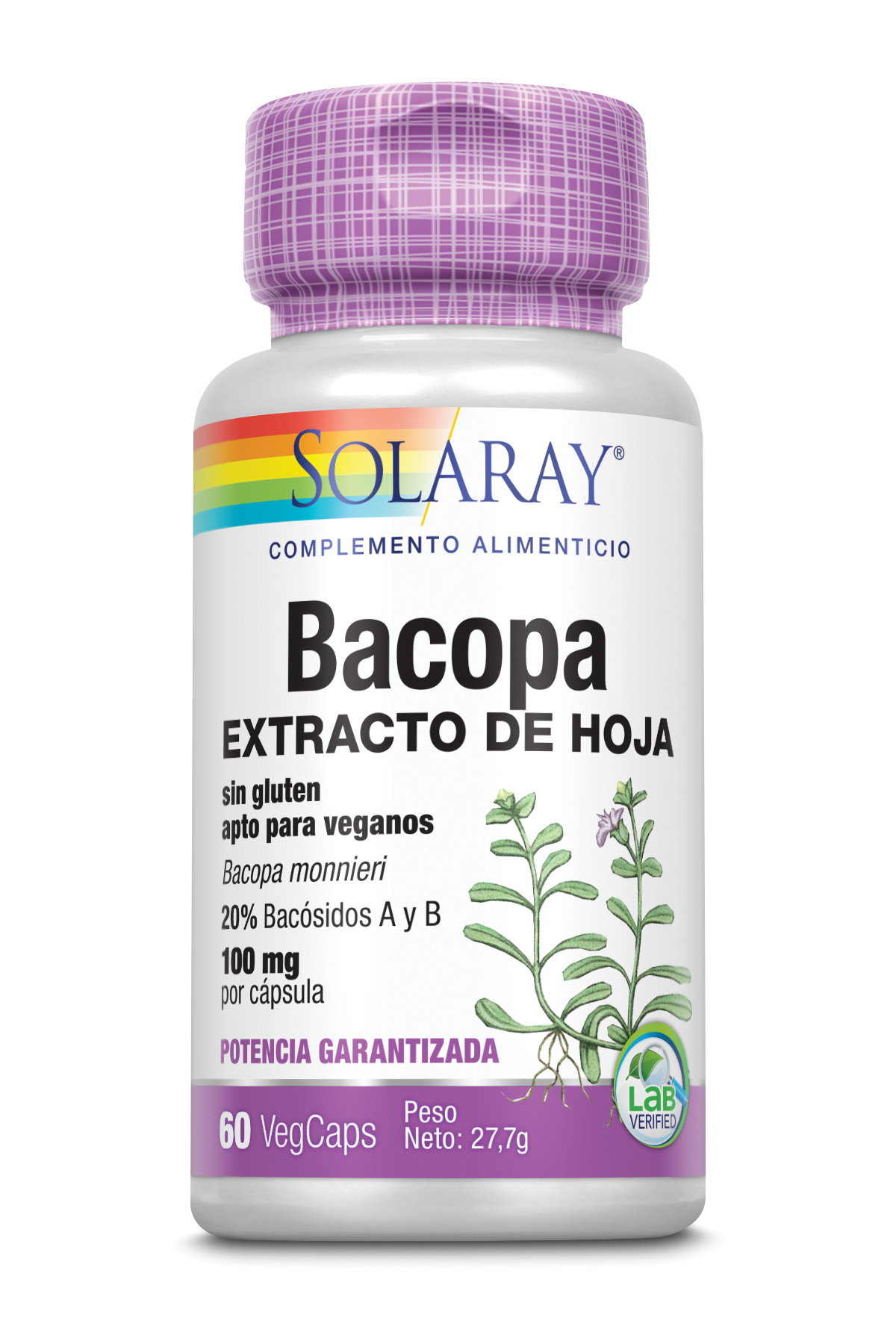 BACOPA 100 mg 60 Vcaps