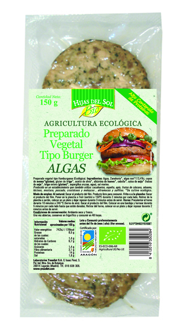 HAMBURG VEGETAL BIO ALGAS 150g