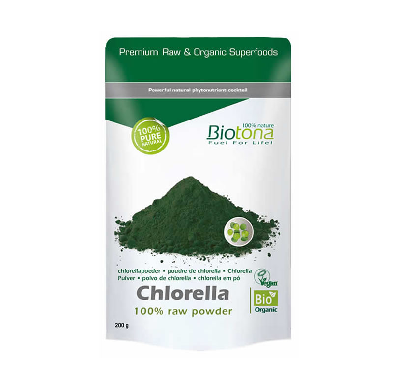 CHLORELLA CRUDA EN POLVO CHLORELLA RAW POWDER 200G