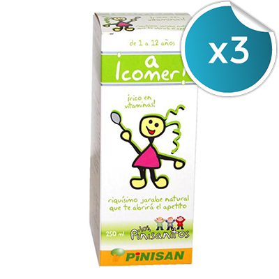 ¡A Comer! - Pinisan - Jarabe 250 ml. (Pack 3 unidades)