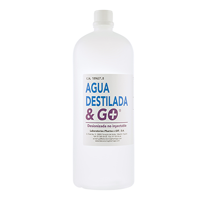 Agua destilada & Go - Pharma & Go - 1000 ml.
