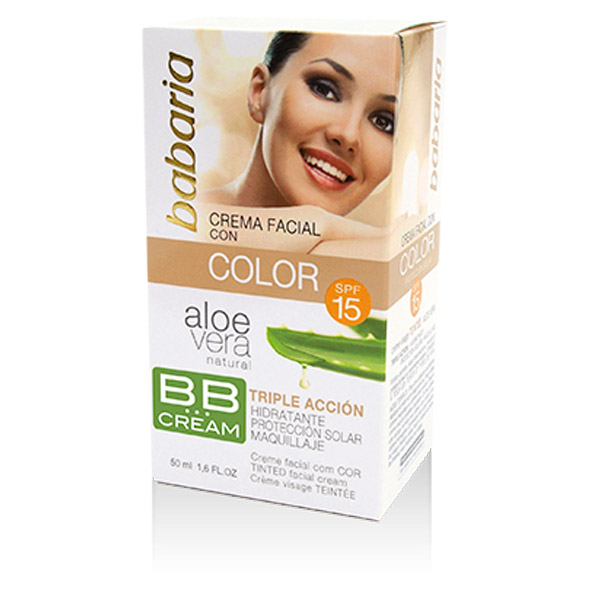 Aloe Vera Facial Color BB Cream SPF-15 - Babaria - 50 ml.