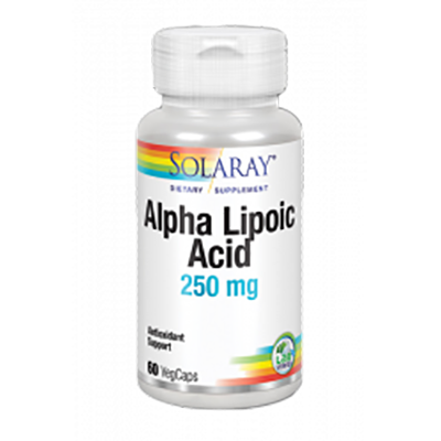 Alpha Lipoic Acid 250 mg. - Solaray - 60 cápsulas