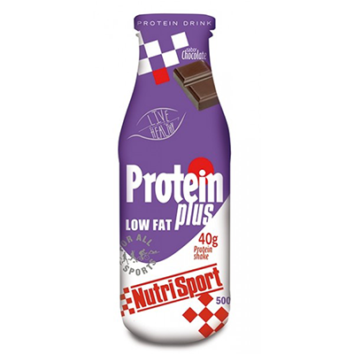 Batidos Protein Plus Drink Chocolate - NutriSport - 24 botellas de 250 ml.