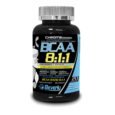 BCAA 8:1:1 Post Workout - Beverly - 100 cápsulas