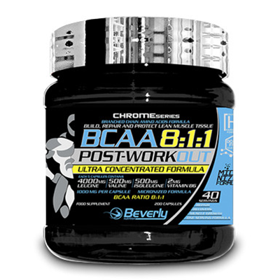 BCAA 8:1:1 Post Workout - Beverly - 200 cápsulas