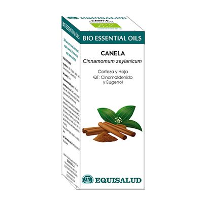 Bio Essential Oil Canela - Equisalud - 10 ml.