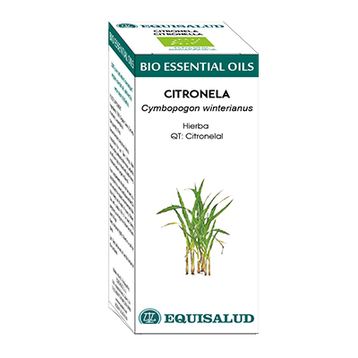 Bio Essential Oil Citronela - Equisalud - 10 ml.