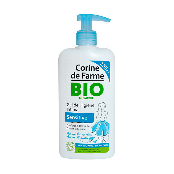 Bio Gel Higiene Intima Sensitive - Corine de Farma - 250 ml.