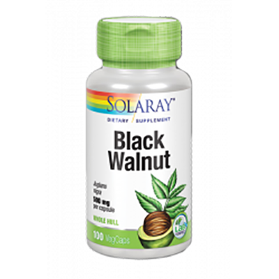Black Walnut (Nogal Negro) 500 mg. - Solaray - 100 cápsulas