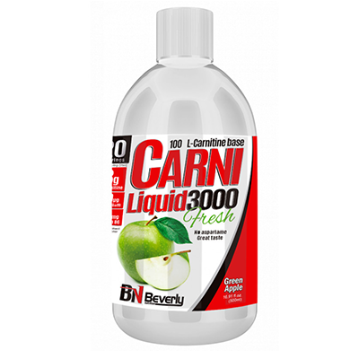 Carni Liquid 3000 - Green Apple - Beverly - 500 ml.