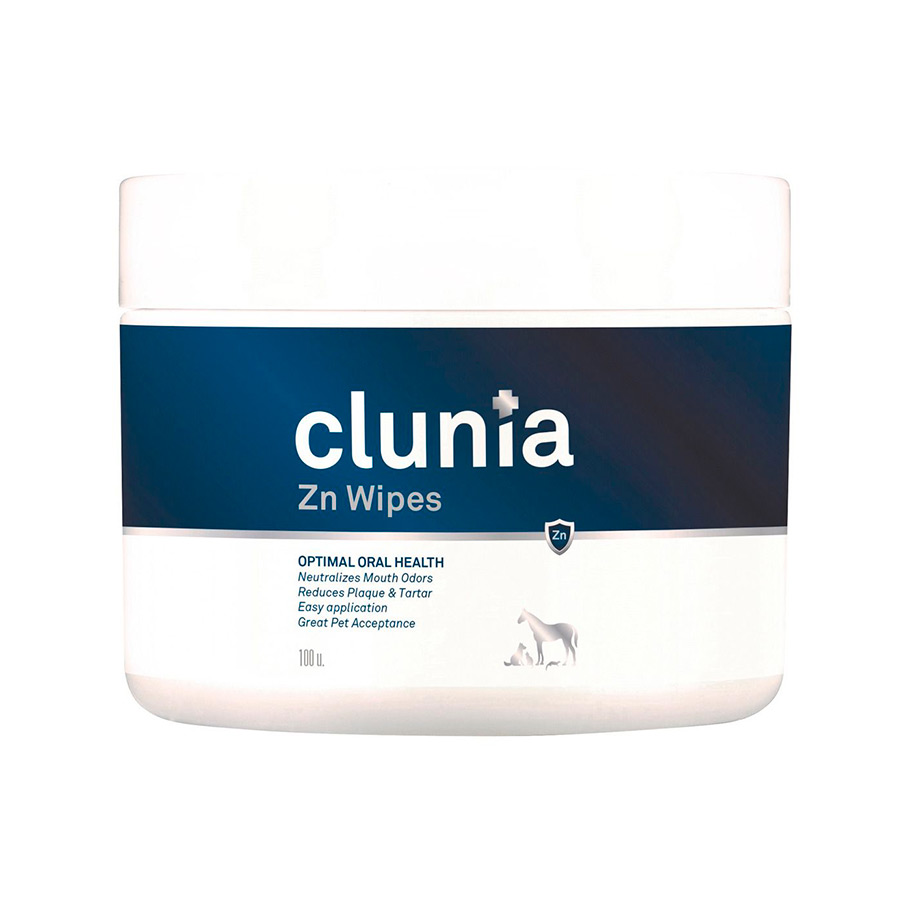 Clunia Zn Wipes - VetNova - 100 Toallitas