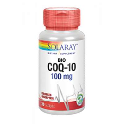 Co-Q10 Ubiquinol 100 mg. - Solaray - 30 perlas