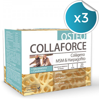 Collaforce Osteo - Dietmed - 20 sobres (Pack 3 unidades)