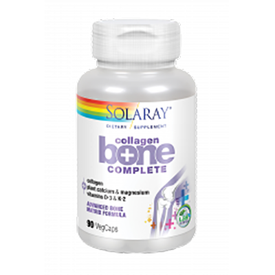 Collagen Bone Complete - Solaray - 90 cápsulas vegetales