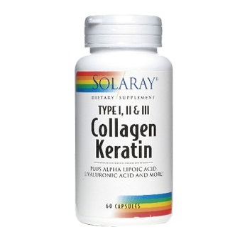 Collagen Keratin - Solaray - 60 cap.