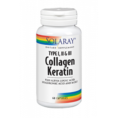 Collagen Keratin - Solaray - 60 cápsulas