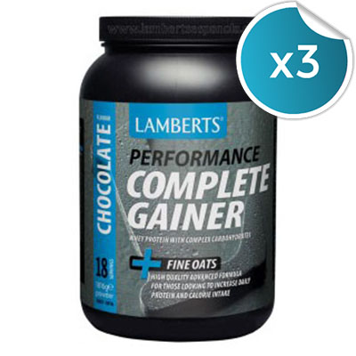 Complete Gainer. Sabor Chocolate - Lamberts - 1816 gr. (Pack 3 unidades)