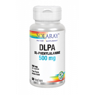 Dl-Phenylalanine 500 mg.  - Solaray - 60 cápsulas vegetales