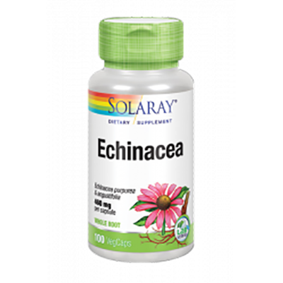 Echinacea Root & Golden Seal Root 500 mg. - Solaray - 100 cápsulas vegetales