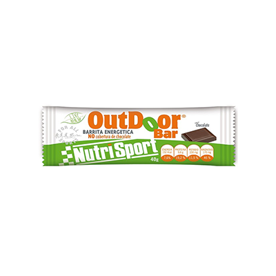 Energética Outdoor Chocolate - NutriSport - 20 barritas