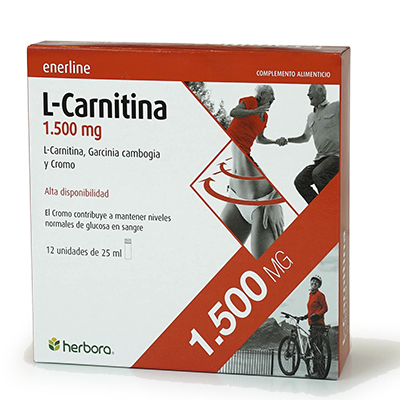 Enerline L-Carnitina 1.500 mg. - Herbora - 12 viales