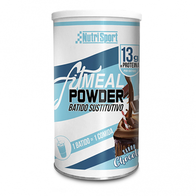 Fitmeal Powder Chocolate - NutriSport - 300 gramos