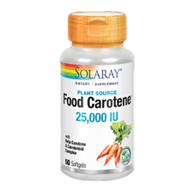 Food Carotene - Solaray - 50 perlas