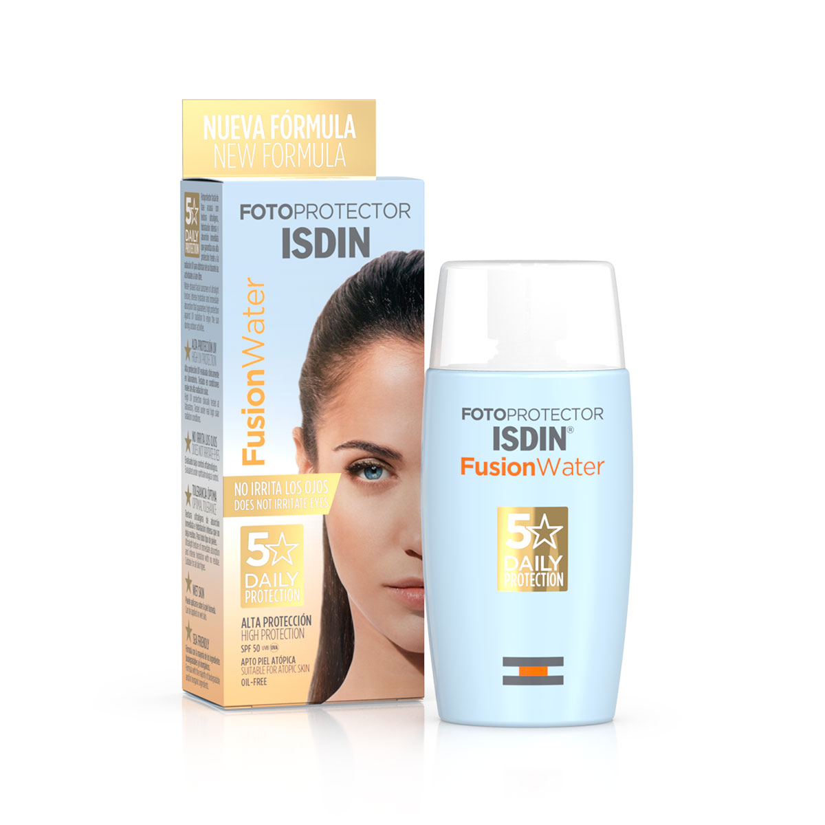 Fotoprotector Fusion Water SPF 50 - ISDIN - 50 ml.
