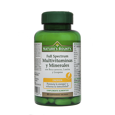 Full Spectrum multivitaminas y minerales - Nature's Bounty - 60 comprimidos