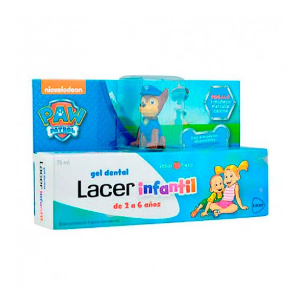Gel Dental Infantil Fresa - Lacer - 75 ml.