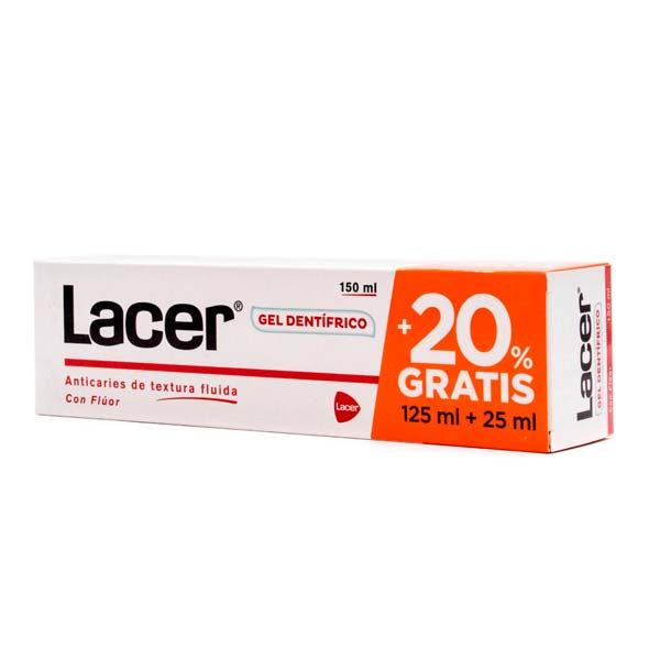 Gel Dental - Lacer - 125 ml. + 25 ml.