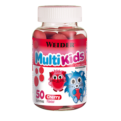 Gummy up Revolution Multikids Up Cherry - Weider - 50 gominolas .