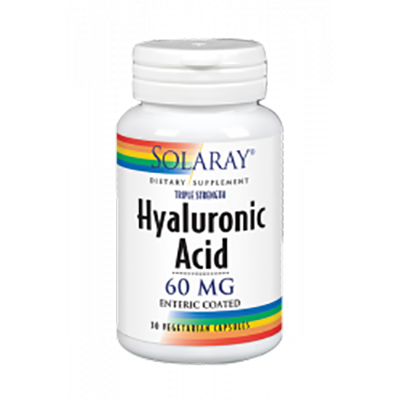 Hyaluronic Acid 60 mg. - Solaray - 30 cápsulas vegetales