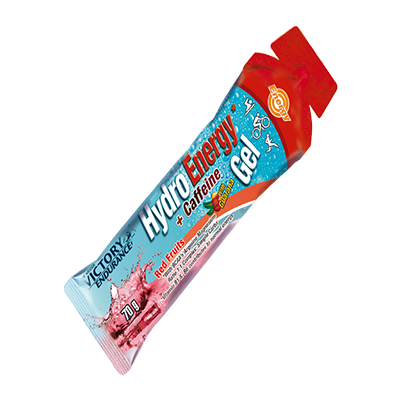 Hydro Energy gel Red Fruit+ Cafeina - Victory Endurance - 24 x 70 g.