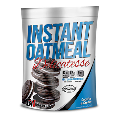 Instant Oatmeal - Cookies y Cream - Beverly - 1,5 Kg.