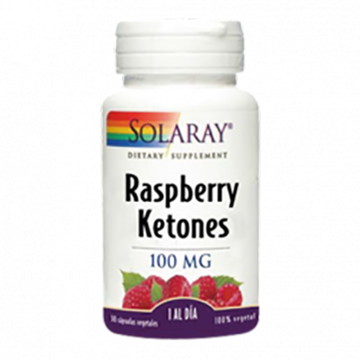 Ketones Rapberry 100 mg. - Solaray - 30 cápsulas