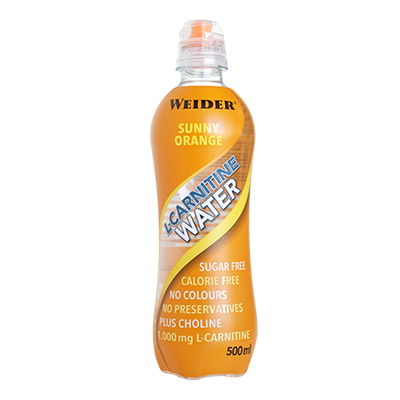 L-Carnitine Water Naranja - Weider - 12 x 500 ml.