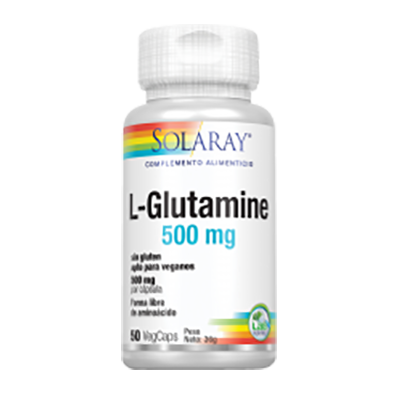 L Glutamine 500 mg. - Solaray - 50 cápsulas