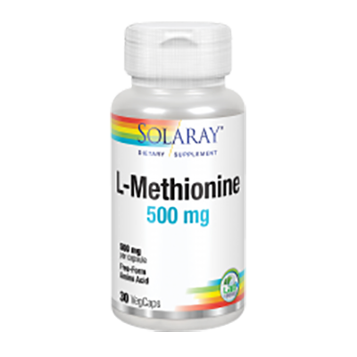 L-Methionine 500 mg. - Solaray - 30 cápsulas