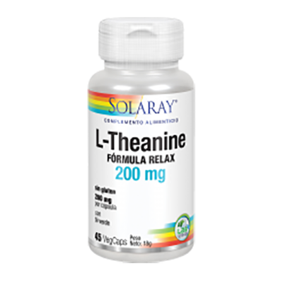 L-Theanine 200 mg. - Solaray - 45 cápsulas vegetales