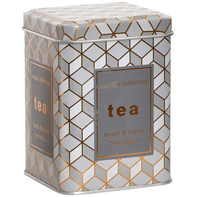 Lata Organic Collection Gris - Tea Shop Geoherbal - 7,5 x 7,5 x 10