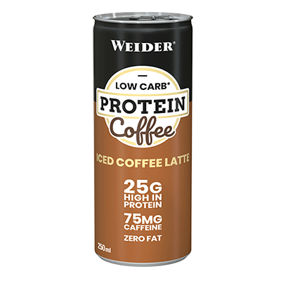 Low Carb Protein Shake iced Coffee Late - Weider - 24 x 250 ml.