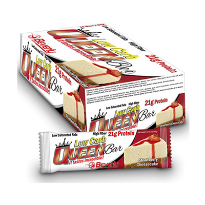Low Carb Queen Bar - 60 gr. Strawberry Cheesecake (21gr. prot. / bar) - Beverly - 15 barritas