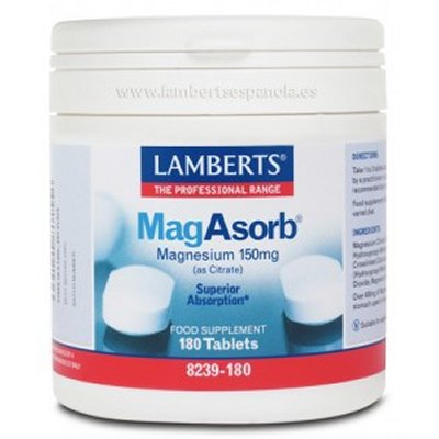 MagAsorb®. Magnesio biodisponible - Lamberts - 180 Tableta