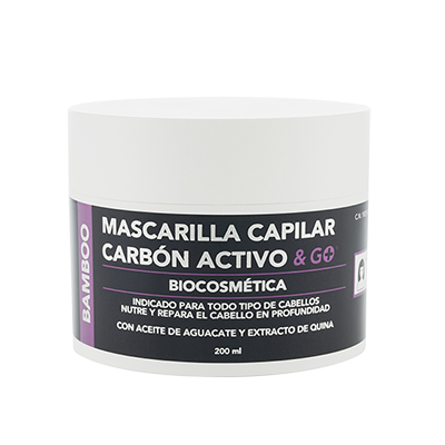 Mascarilla Capilar Carbon Activo - Pharma & Go - 200 ml.