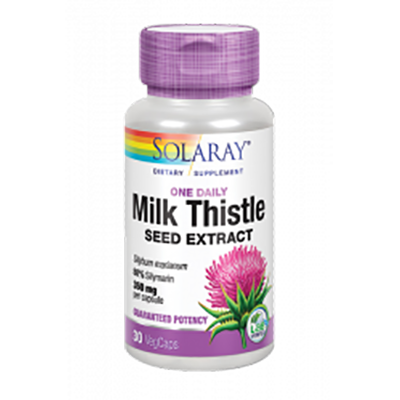 Milk Thistle - Solaray - 30 cápsulas vegetales