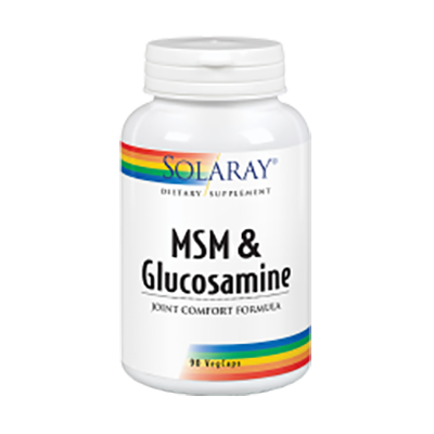 MSM And Glucosamine - Solaray - 90 cápsulas